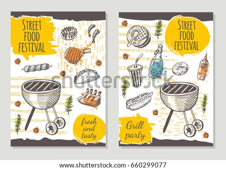 street food brochure flyer