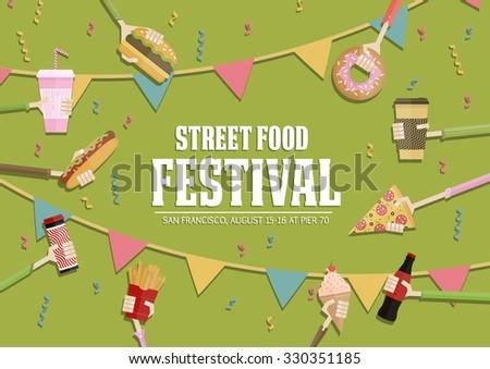 Street food festival poster.