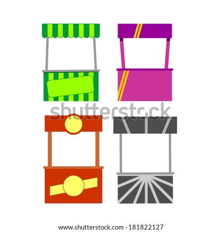 street food, kiosk, food cart