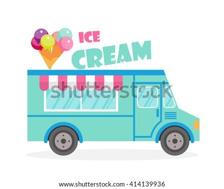 street food truck vector