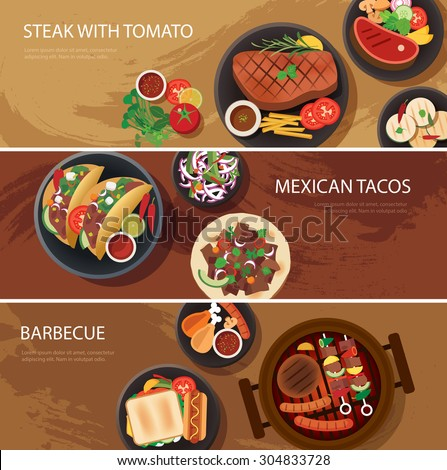 street food web banner  steak
