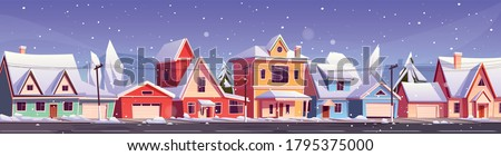 street in suburb district with