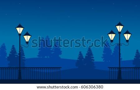 street lamp on garden beauty
