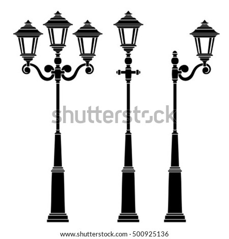 street lamps collection lantern