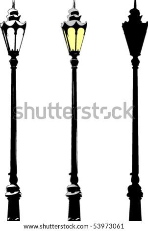 Street lantern at winter