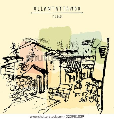 street life in ollantaytambo