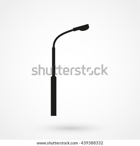 street light icon isolated on