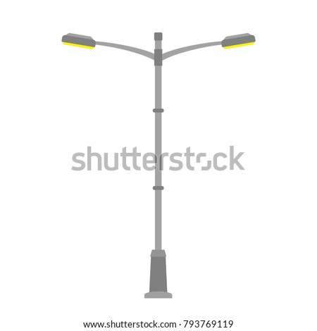 street light isolated on white