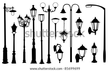 street light silhouettes