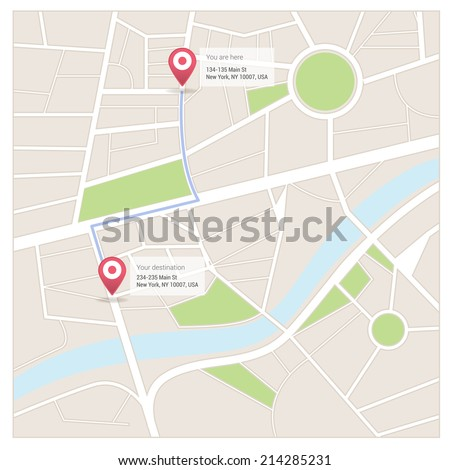Street maps and directions