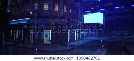 street of a futuristic city