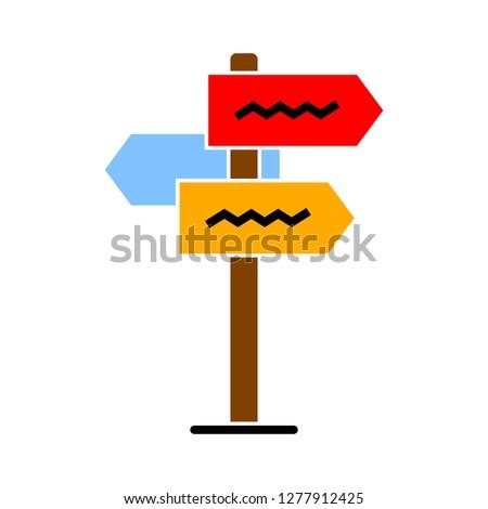 street pointer icon - street pointer isolate, signpost illustration - Vector road arrow