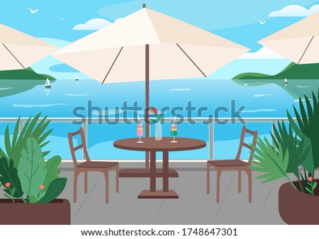 street restaurant at seaside