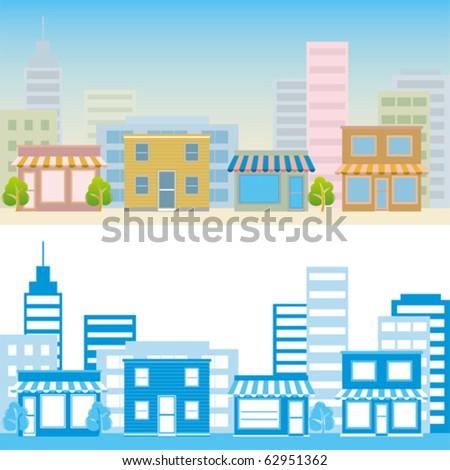 Street scene. Illustration vector.
