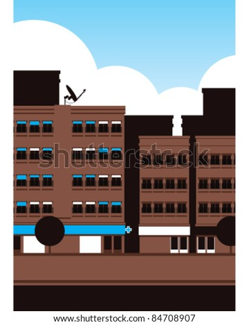Street scene vector illustration