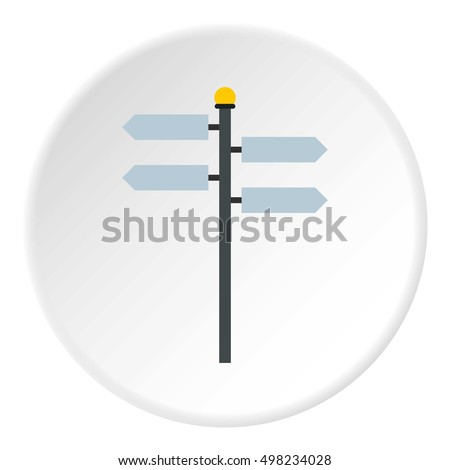 Street sign icon. Flat illustration of street sign vector icon for web