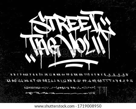 """Street Tag vol 2 is the second version of Street Tag fonts. Inspired from realistic caligraphy tagging style in many big cities. This style is more bold and readable, perfect for your """"street art"""" des"""