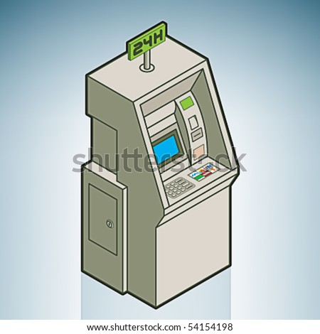 Street Vending Machine (part of On the Street Items Isometric 3D Icons Set)