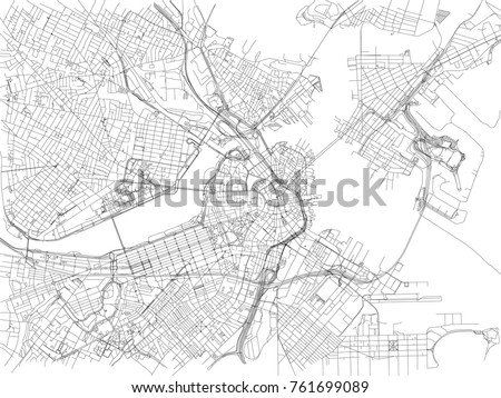 streets of boston  city map