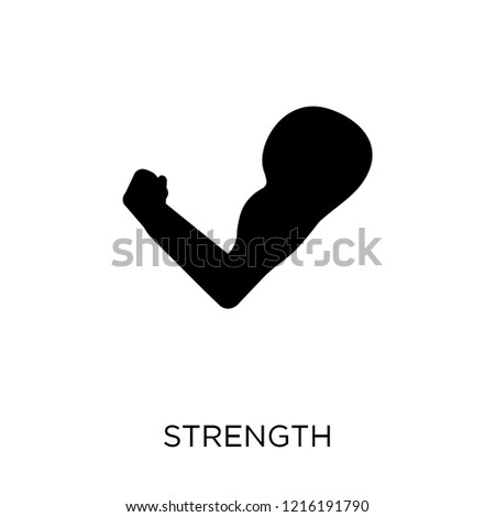 Strength icon. Strength symbol design from Success collection. Simple element vector illustration on white background.