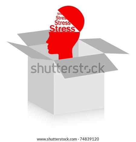 stress box - stock vector