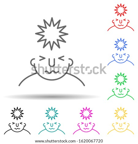 stress on mind multi color style icon. Simple thin line, outline vector of what is in your mind icons