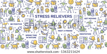 stress relievers conceptual