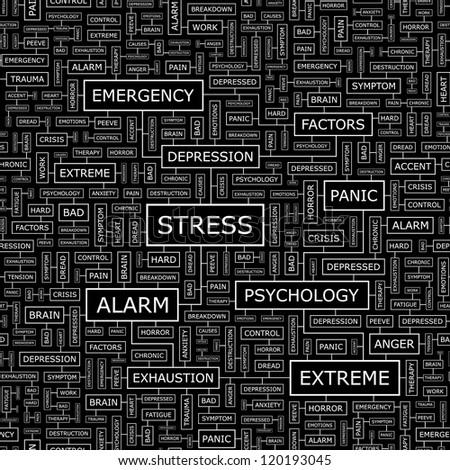 STRESS. Seamless vector pattern.