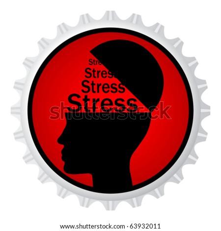 stress sign on cap