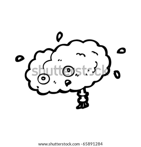 stock vector : stressed brain