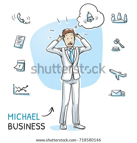 stressed young business man in