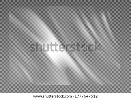 Stretched cellophane banner, realistic crumpled or folded texture vector illustration. Clear transparent polyethylene top of plastic container, tape or elastic wrapping paper