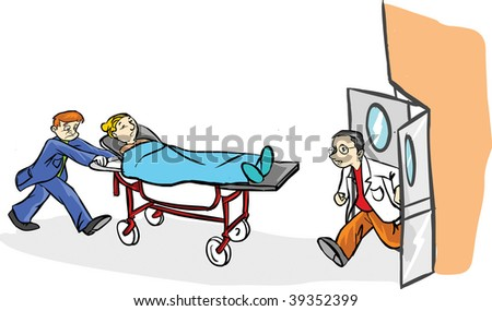 Patient On Stretcher Cartoon | www.pixshark.com - Images ...