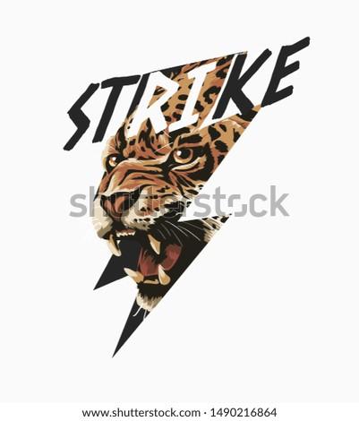 strike slogan with leopard in