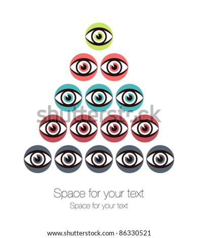 striking eye pyramid design
