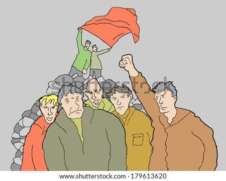 Striking people made revolution