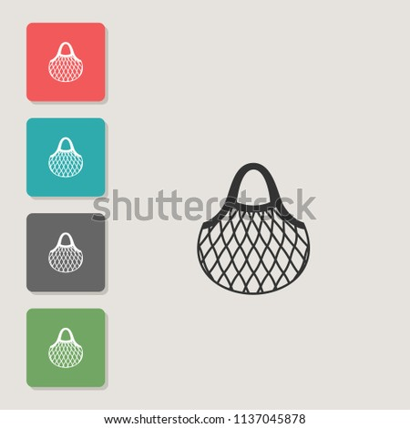 String-bag - vector icon. Symbol for web, infographics, print design and mobile UX/UI kit. Vector illustration, EPS10.