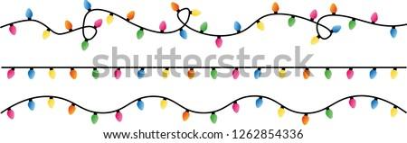 string of christmas lights vector illustration