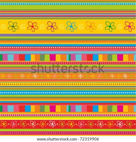 strip pattern. vector floral background