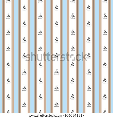 stripe nautical blue brown with ...