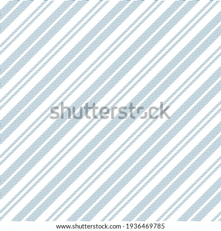 Stripe pattern abstract textured in blue and white. Herringbone simple background vector graphic for dress, shirt, skirt, gift wrapping paper, other modern spring summer fashion textile print. ストックフォト ©