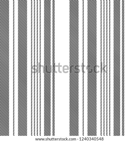 Stripe seamless pattern with black and white vertical parallel stripes.Vector illustration.
