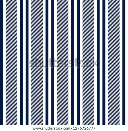 Stripe seamless pattern with blue and white colors vertical parallel stripe.Vector stripe pattern abstract background. #1276726777