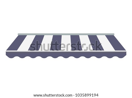 Striped awning canopy for the store. Awning for the cafes and street restaurants.  sc 1 st  Vecteezy & Striped Awnings - Download Free Vector Art Stock Graphics u0026 Images