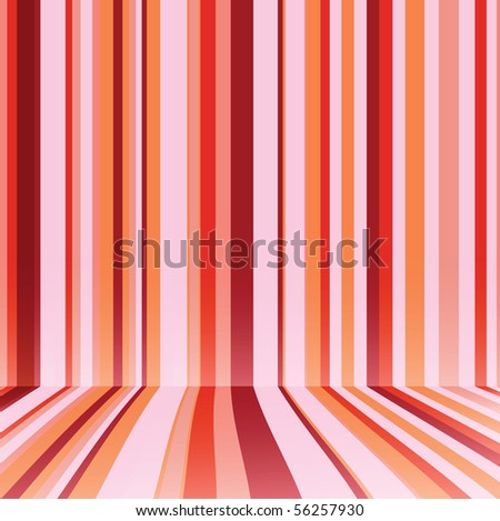 Striped background in red colour. Vector illustration