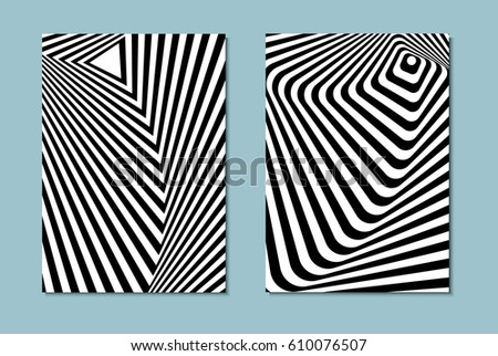 striped black and white opt art