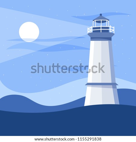 striped colored lighthouse