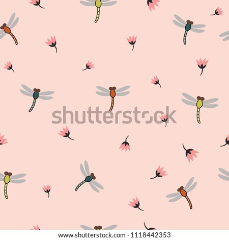 striped elegant dragonflies and