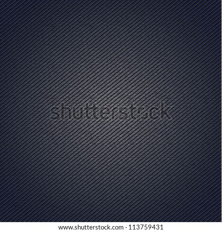 Striped fabric surface for blue background, 10eps