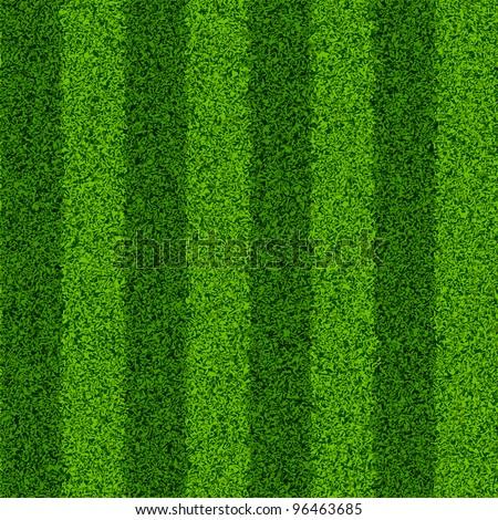 Striped green grass field. Seamless vector.